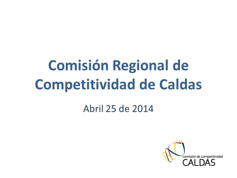 Comisión Regional de Competitividad de Caldas Abril 25 de 2014