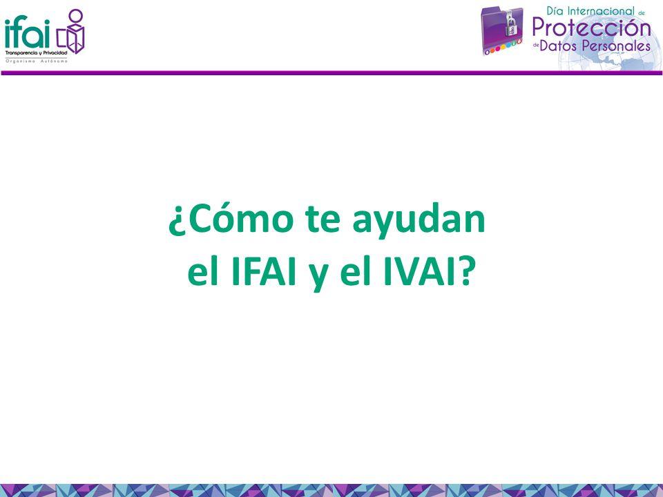 ¿Cómo te ayudan el IFAI y el IVAI