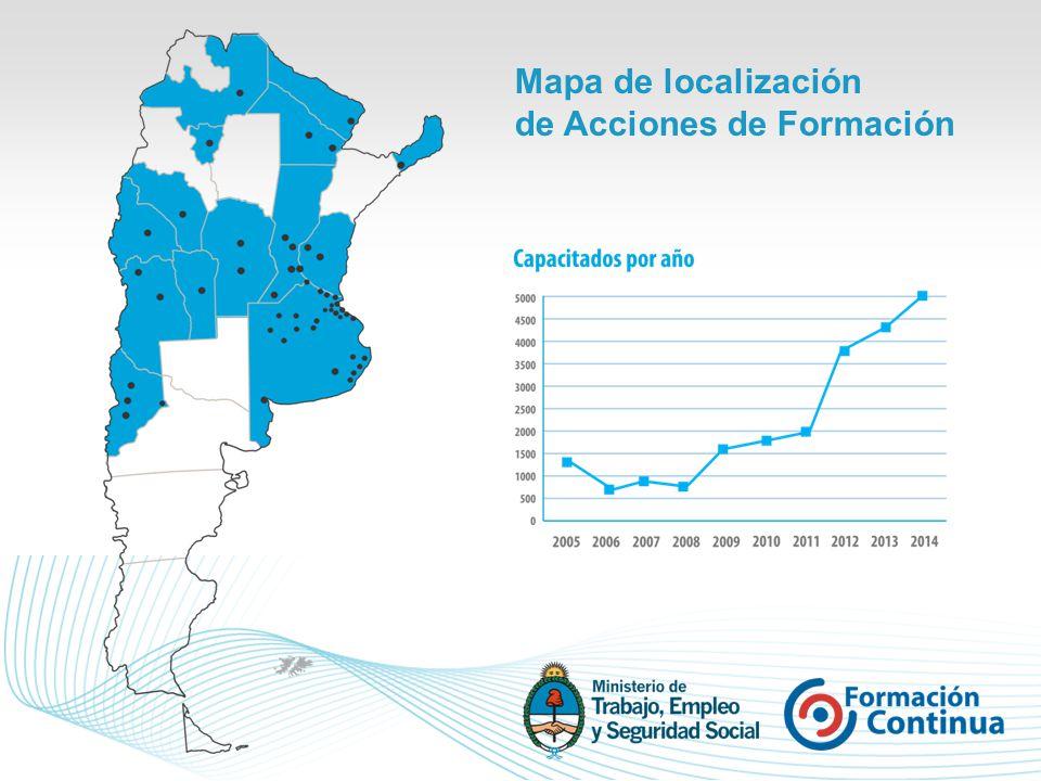 Mapa de localización de Acciones de Formación