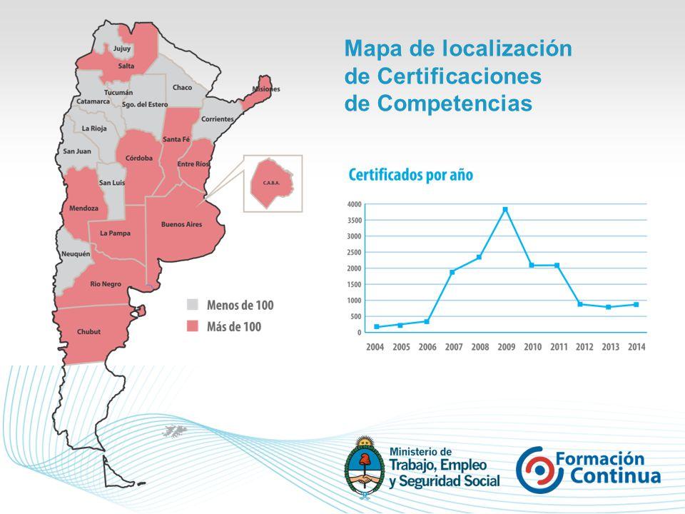 Mapa de localización de Certificaciones de Competencias
