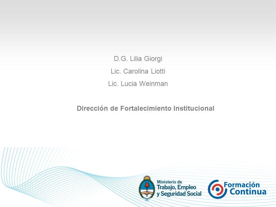 D.G. Lilia Giorgi Lic. Carolina Liotti Lic.
