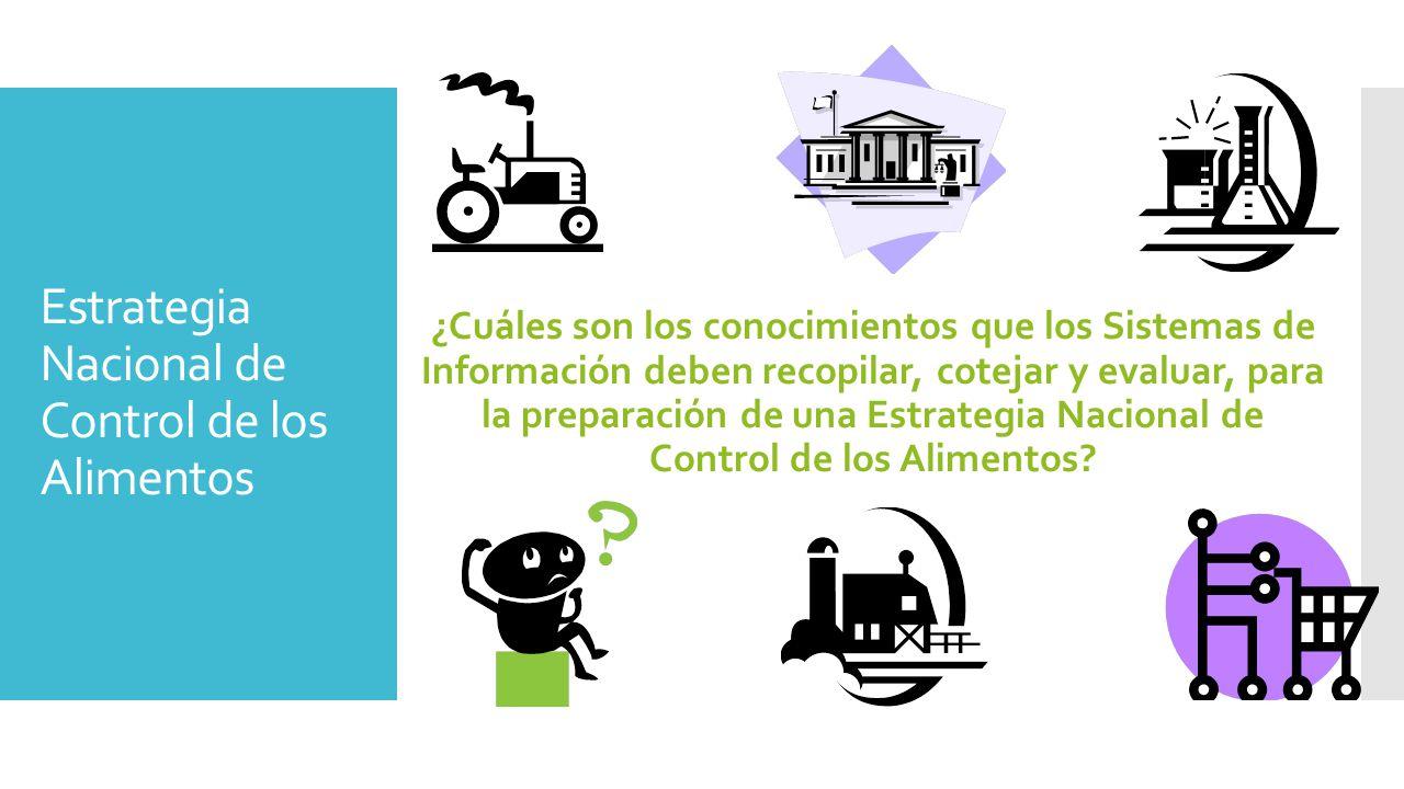 Estrategia Nacional de Control de los Alimentos ¿Cuáles son los conocimientos que los Sistemas de Información deben recopilar, cotejar y evaluar, para la preparación de una Estrategia Nacional de Control de los Alimentos
