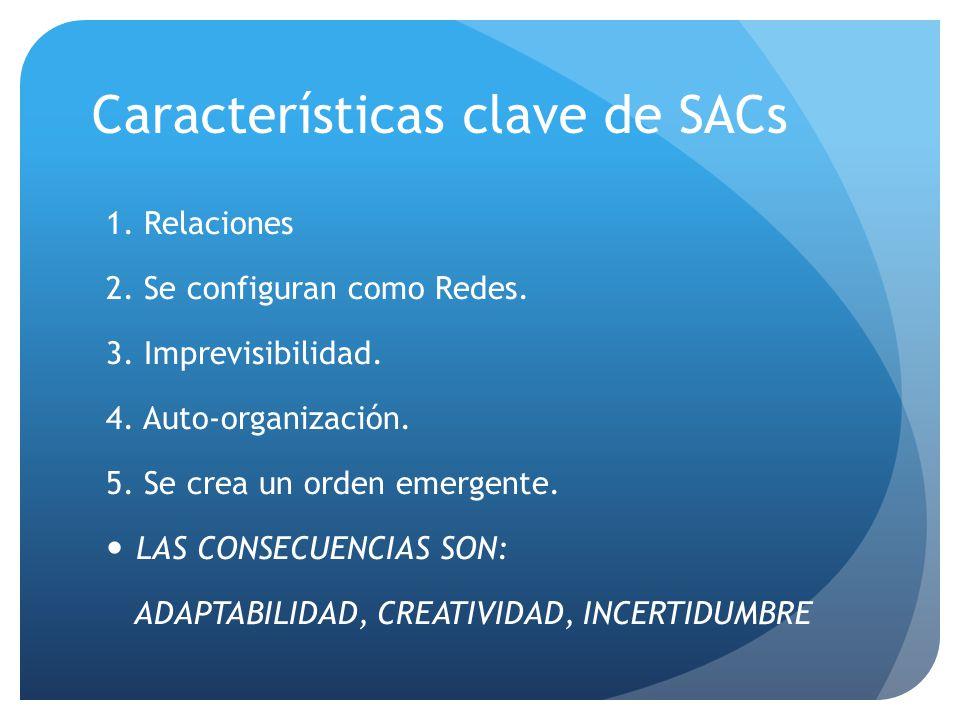 Características clave de SACs 1. Relaciones 2. Se configuran como Redes.
