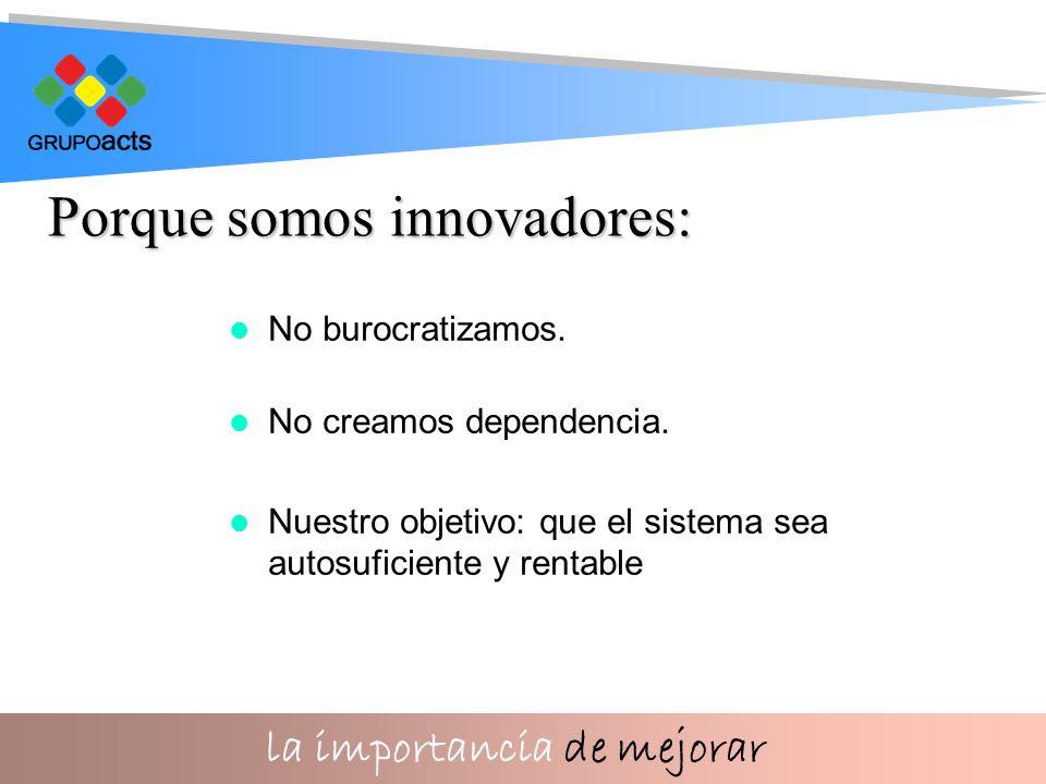 la importancia de mejorar No burocratizamos. No creamos dependencia.