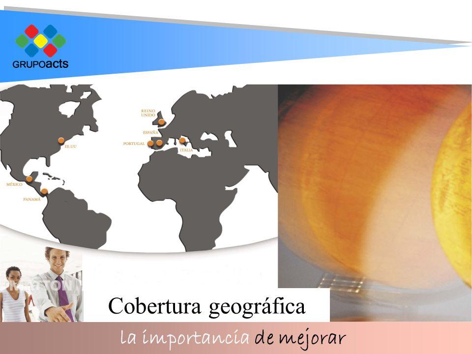 la importancia de mejorar Cobertura geográfica
