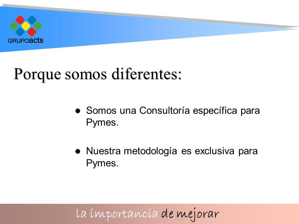 la importancia de mejorar Somos una Consultoría específica para Pymes.