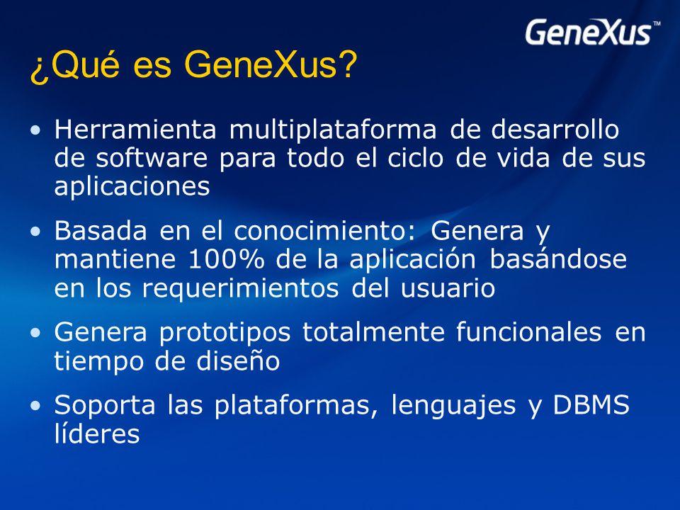 ¿Qué es GeneXus.