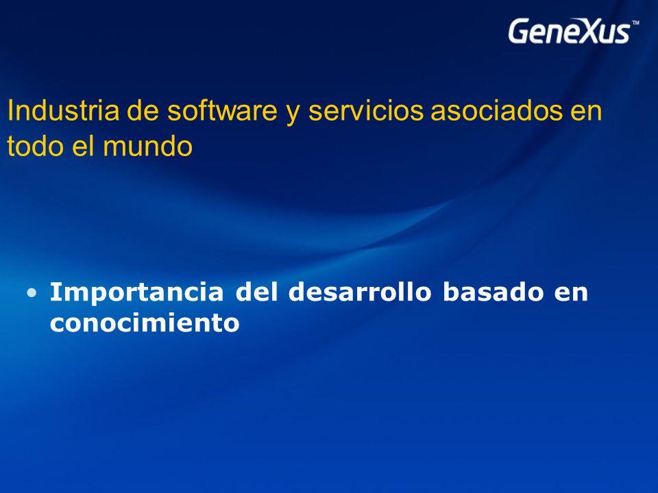 Industria de software y servicios asociados en todo el mundo Importancia del desarrollo basado en conocimiento