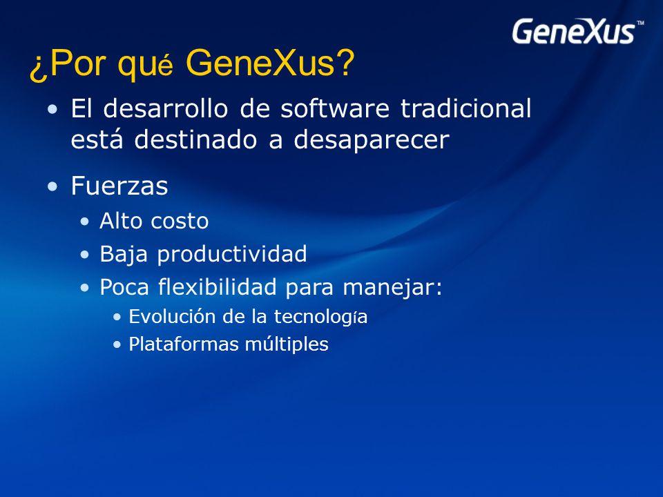 ¿Por qu é GeneXus.