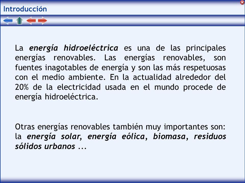 Introducción La energía hidroeléctrica es una de las principales energías renovables.