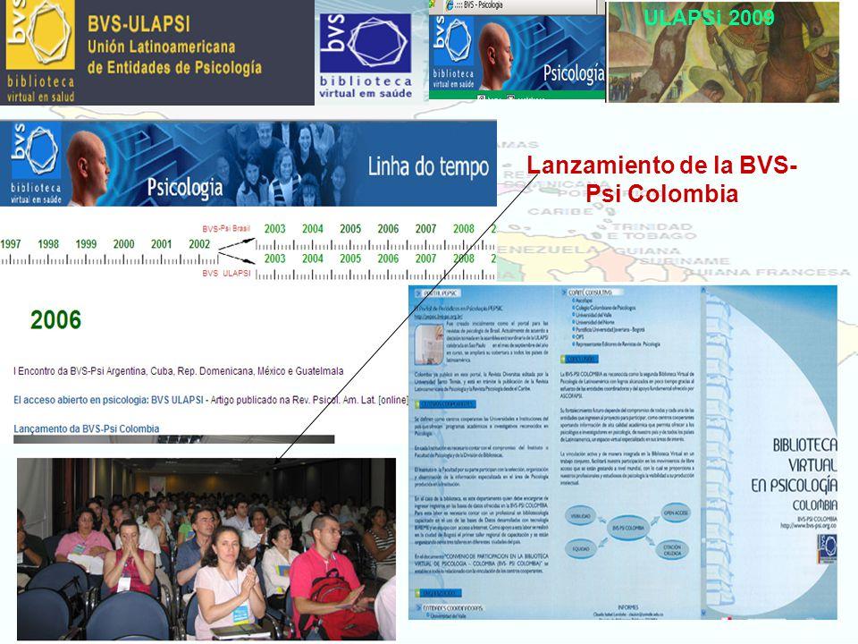 Lanzamiento de la BVS- Psi Colombia