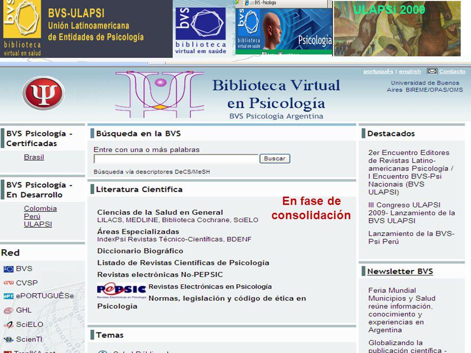 ULAPSi 2009 En fase de consolidación