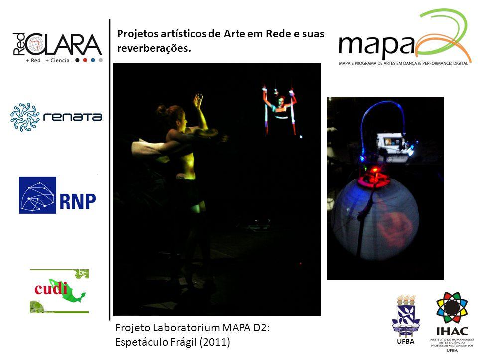 Projetos artísticos de Arte em Rede e suas reverberações.