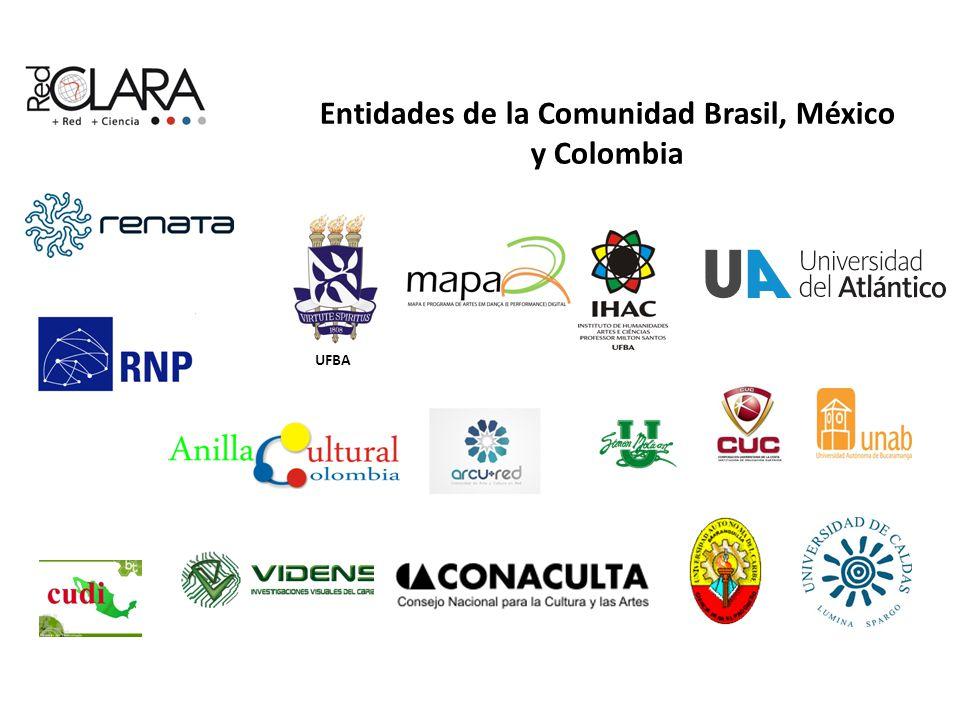 Entidades de la Comunidad Brasil, México y Colombia UFBA