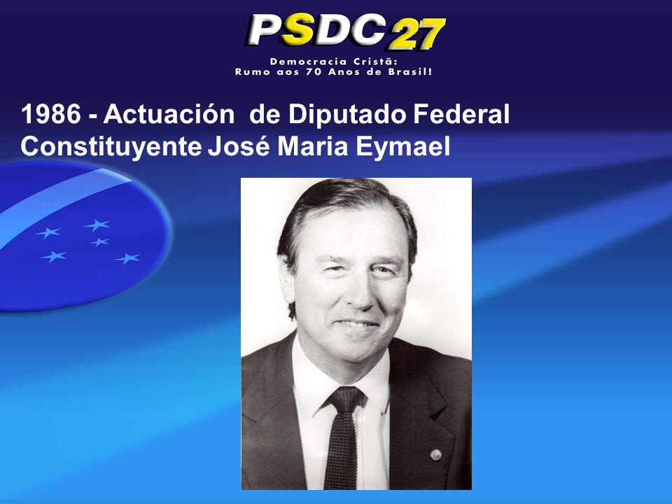 1986 - Actuación de Diputado Federal Constituyente José Maria Eymael