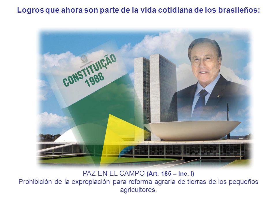 Logros que ahora son parte de la vida cotidiana de los brasileños: PAZ EN EL CAMPO (Art.