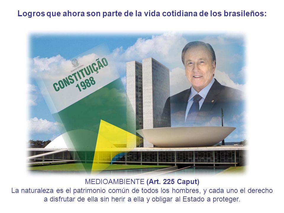 Logros que ahora son parte de la vida cotidiana de los brasileños: MEDIOAMBIENTE (Art.