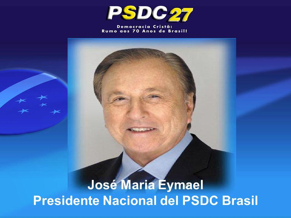 José Maria Eymael Presidente Nacional del PSDC Brasil