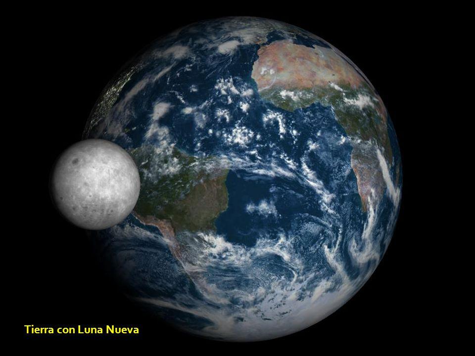 Tierra con Luna Nueva