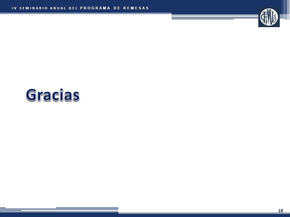 IV SEMINARIO ANUAL DEL PROGRAMA DE REMESAS 18