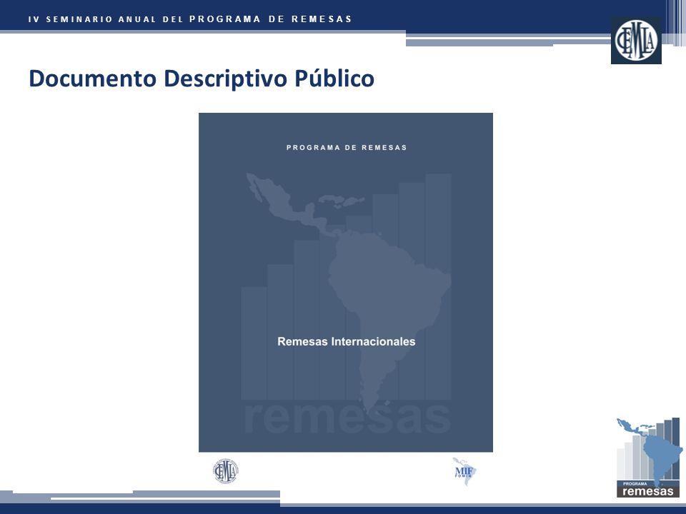 IV SEMINARIO ANUAL DEL PROGRAMA DE REMESAS Documento Descriptivo Público
