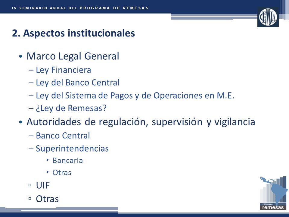 IV SEMINARIO ANUAL DEL PROGRAMA DE REMESAS 2.