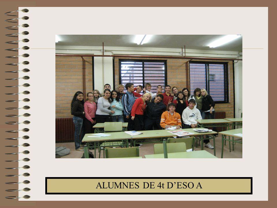 ALUMNES DE 4t D'ESO A