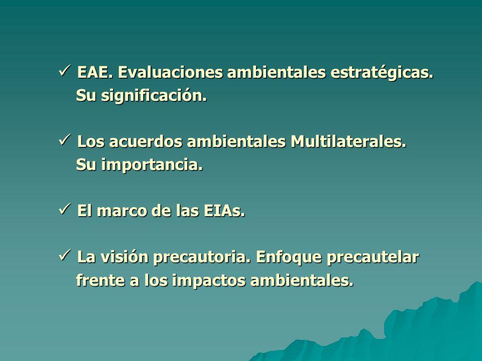 EAE. Evaluaciones ambientales estratégicas. EAE.