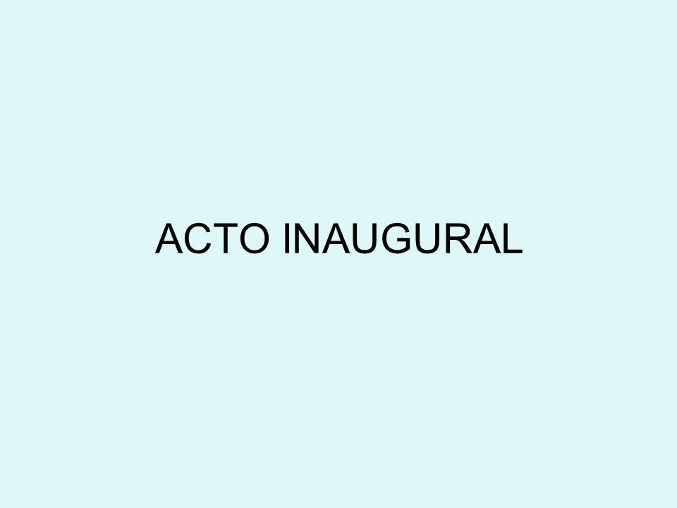 ACTO INAUGURAL