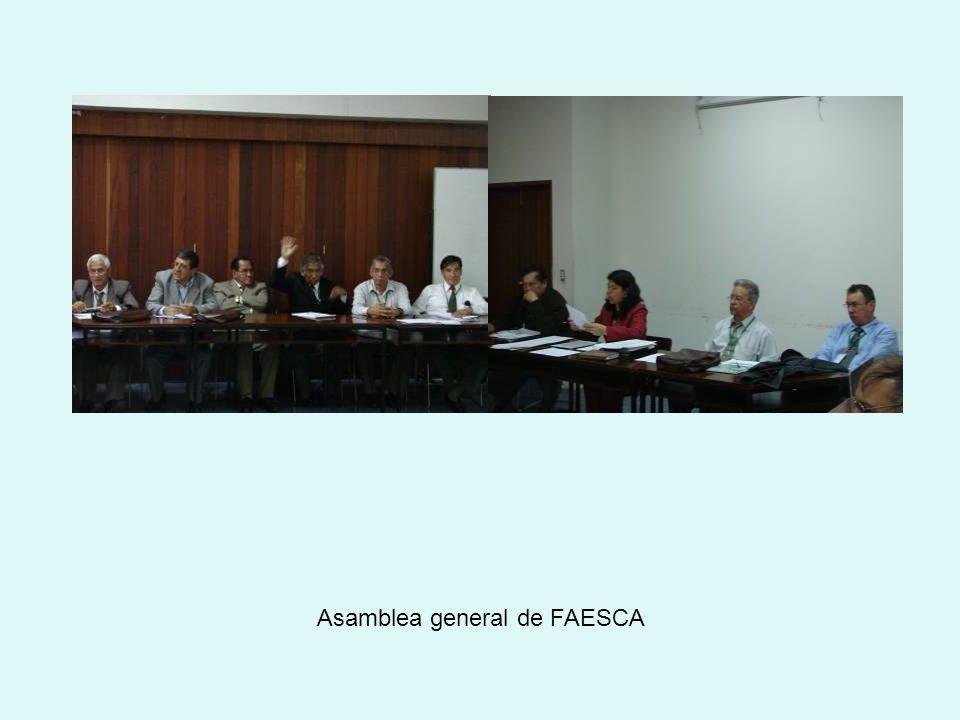 Asamblea general de FAESCA
