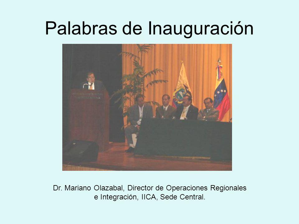 Palabras de Inauguración Dr.
