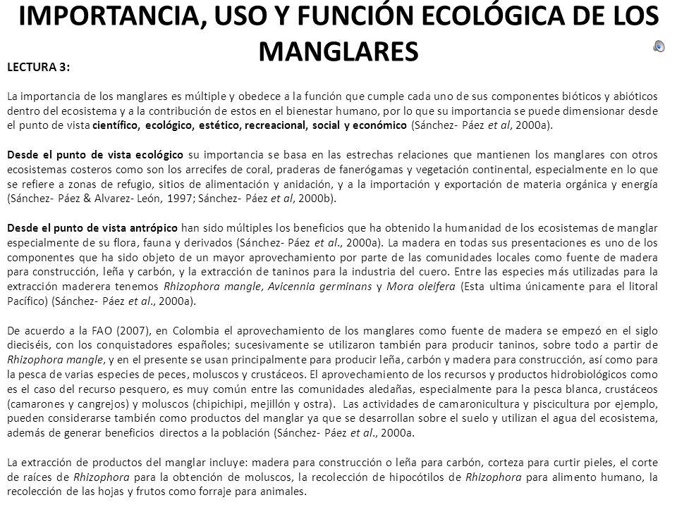 CAPÍTULO 2 Importancia y función ecológica de los Manglares.