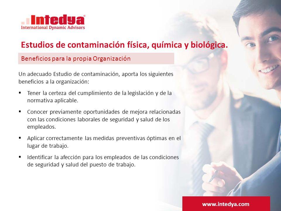 Un adecuado Estudio de contaminación, aporta los siguientes beneficios a la organización:  Tener la certeza del cumplimiento de la legislación y de la normativa aplicable.