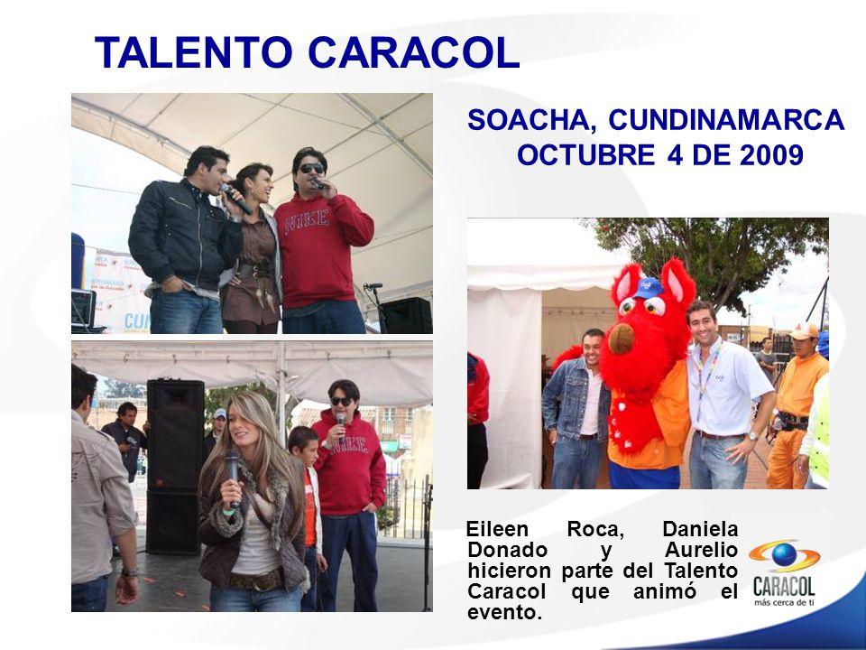 TALENTO CARACOL Eileen Roca, Daniela Donado y Aurelio hicieron parte del Talento Caracol que animó el evento.