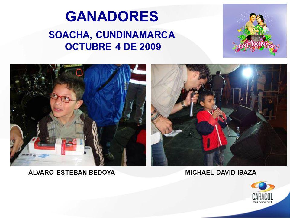 ÁLVARO ESTEBAN BEDOYA GANADORES MICHAEL DAVID ISAZA SOACHA, CUNDINAMARCA OCTUBRE 4 DE 2009