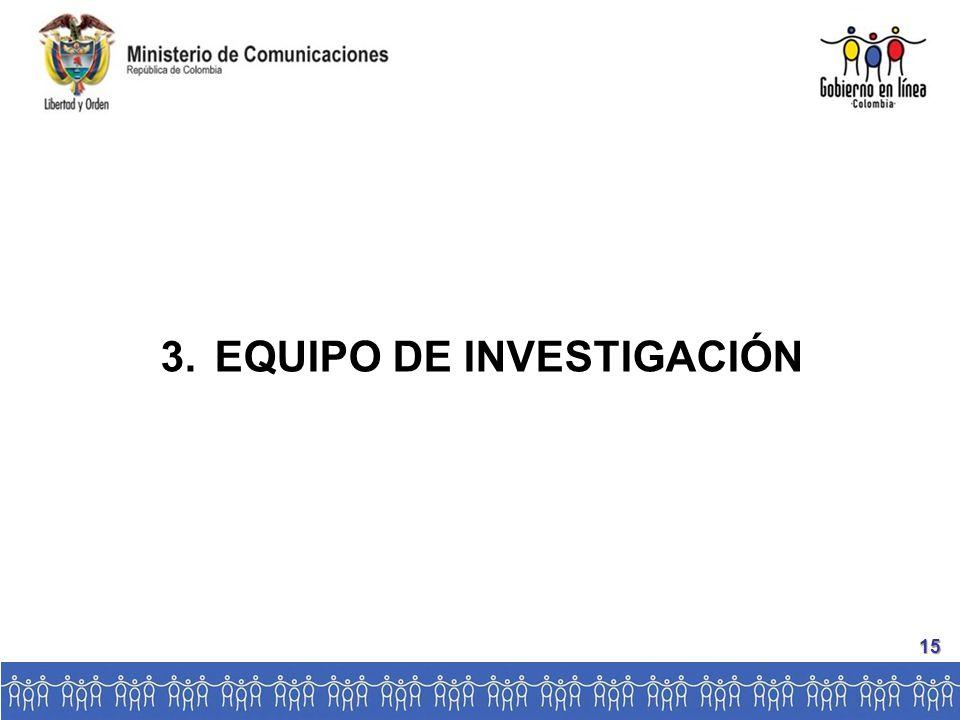3.EQUIPO DE INVESTIGACIÓN 15