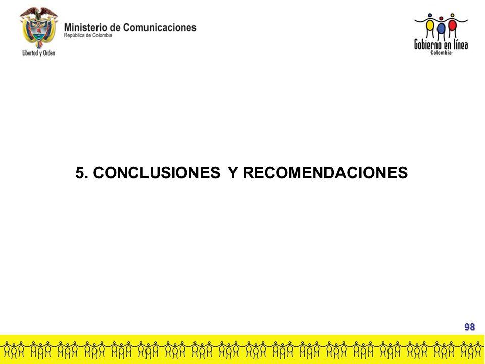 5. CONCLUSIONES Y RECOMENDACIONES 98