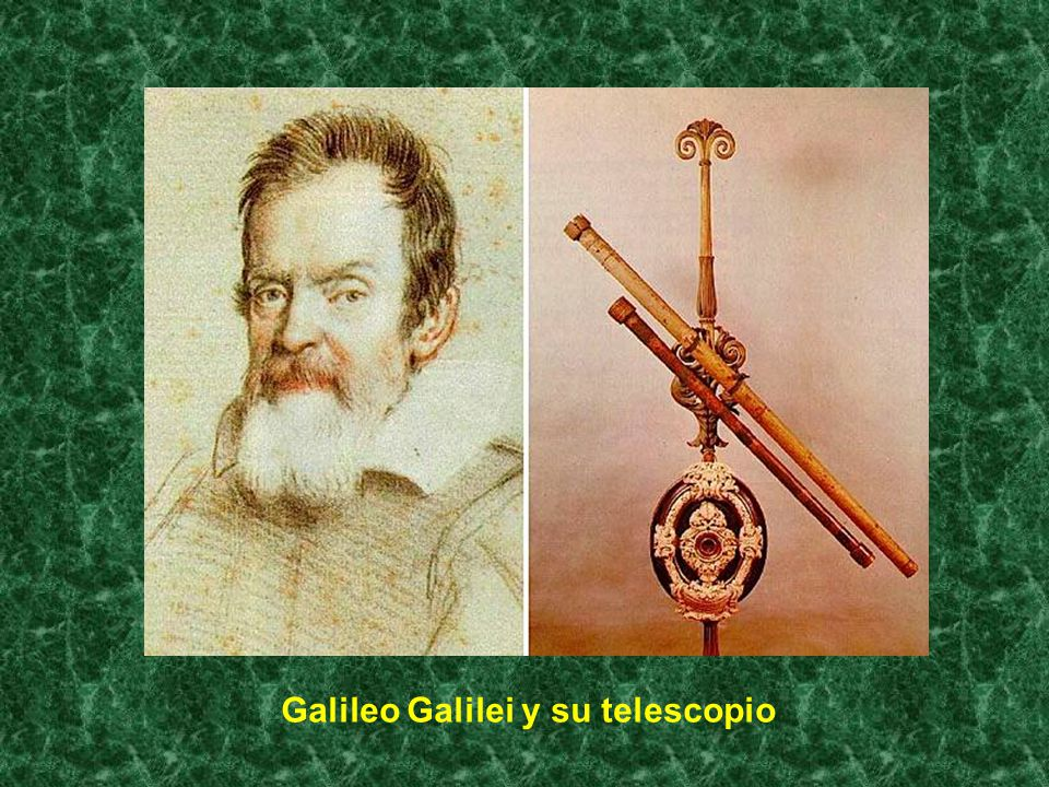 Galileo Galilei y su telescopio