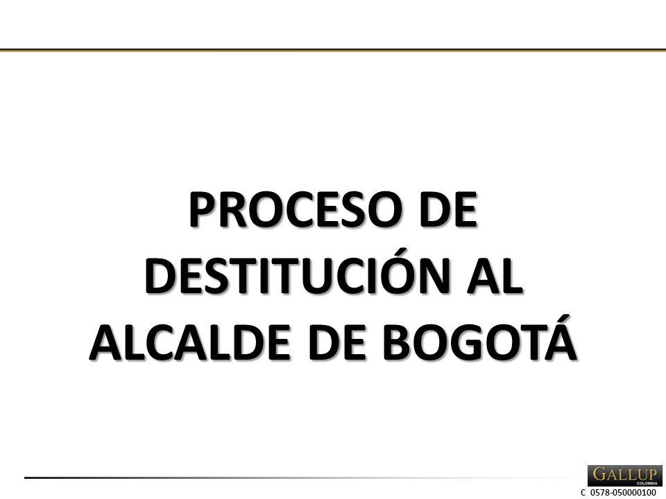 C 0578-050000100 PROCESO DE DESTITUCIÓN AL ALCALDE DE BOGOTÁ