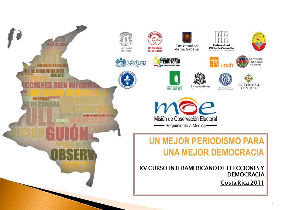XV CURSO INTERAMERICANO DE ELECCIONES Y DEMOCRACIA Costa Rica 2011 1