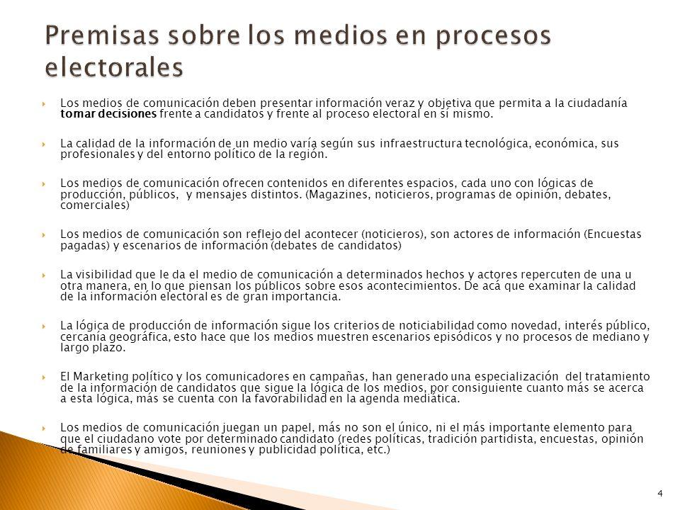  Los medios de comunicación deben presentar información veraz y objetiva que permita a la ciudadanía tomar decisiones frente a candidatos y frente al proceso electoral en sí mismo.