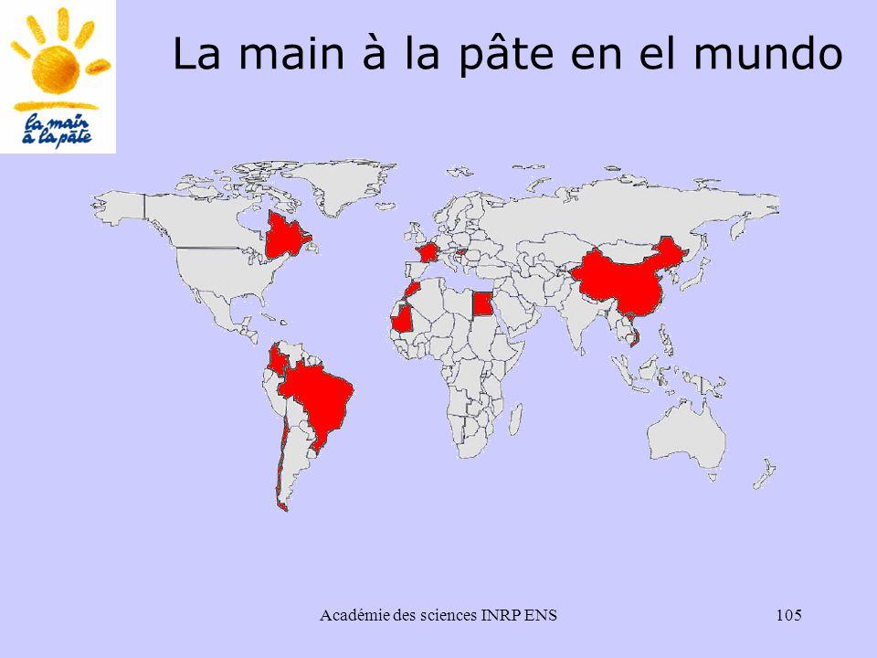 Académie des sciences INRP ENS105 La main à la pâte en el mundo