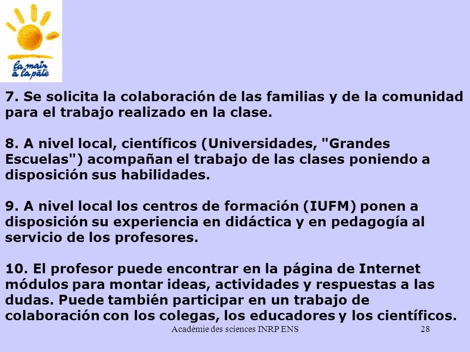 Académie des sciences INRP ENS28 7.
