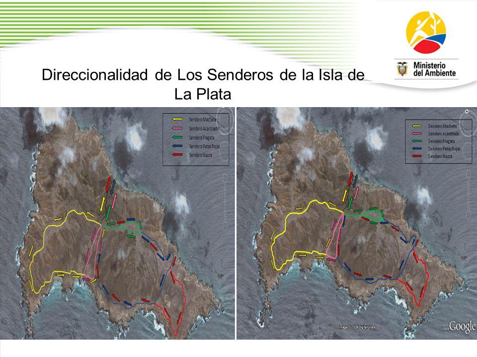 Direccionalidad de Los Senderos de la Isla de La Plata