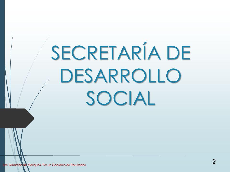 SECRETARÍA DE DESARROLLO SOCIAL San Sebastián de Mariquita, Por un Gobierno de Resultados 2