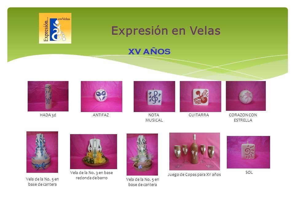XV AÑOS HADA 3dANTIFAZNOTA MUSICAL GUITARRACORAZON CON ESTRELLA Vela de la No.