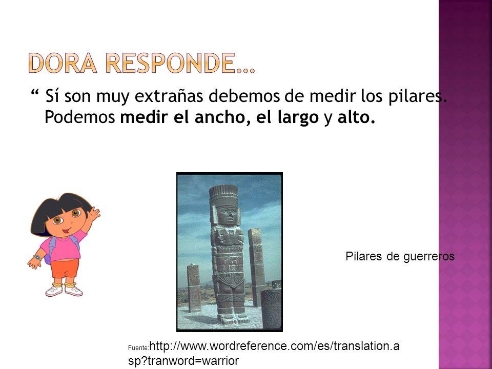 Mira estas estructuras, ¿son extrañas, no Fuente: http://www.wordreference.com/es/translation.a sp tranword=warrior Pilares de guerreros