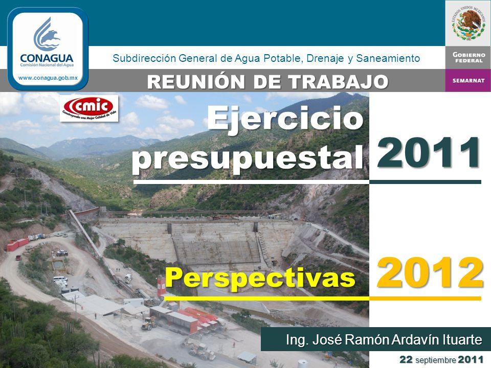 Subdirección General de Agua Potable, Drenaje y Saneamiento 22 septiembre 2011 Ing.