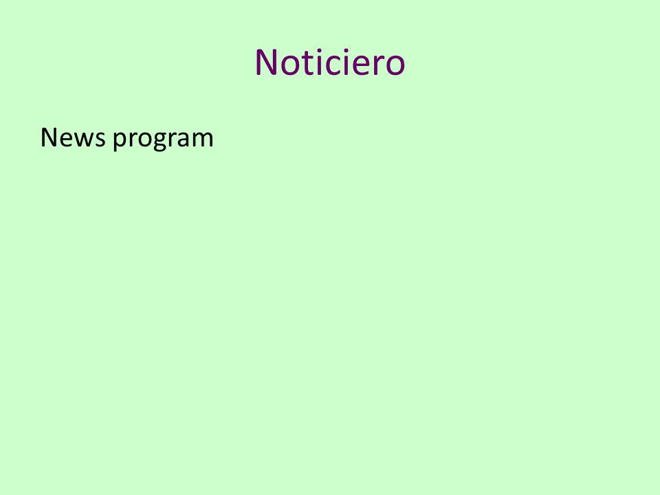 Noticiero News program