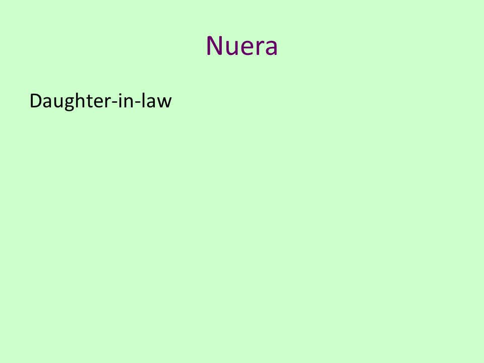 Nuera Daughter-in-law